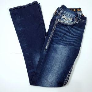 Rock Revival Tali Dark Boot cut Jeans Size 27